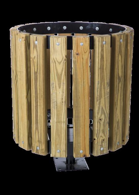 12428 trashrecepticalholder wood 408