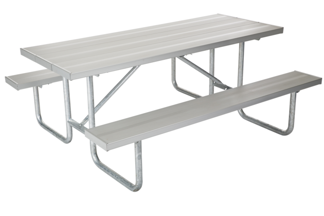 Jamestown Advanced Products - Black metal picnic table