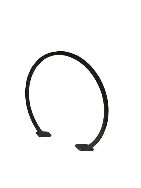 Hoop bike rack black angle